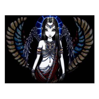 Carte postale égyptienne angélique de déesse de
