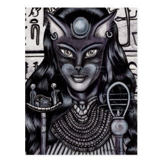 Carte Postale Egyptienne de déesse de chat de filasse