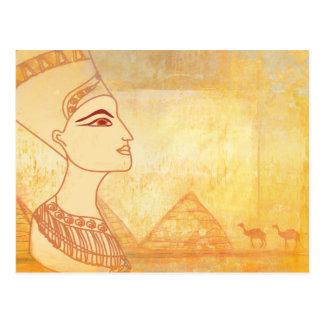 Carte postale égyptienne de la Reine Cléopâtre