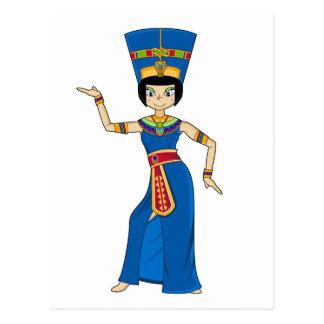 Carte postale égyptienne de la Reine Nefertiti