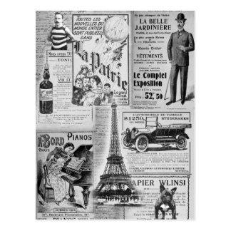 Carte Postale Eiffel vintage français