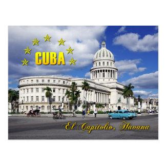 Carte Postale EL Capitolio (capitol national), La Havane, Cuba