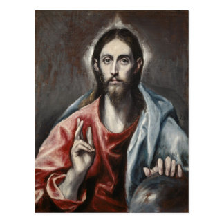Carte Postale El Greco - bénédiction du Christ