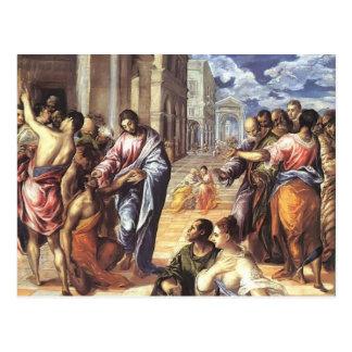 Carte Postale EL Greco- le Christ guérissant les aveugles