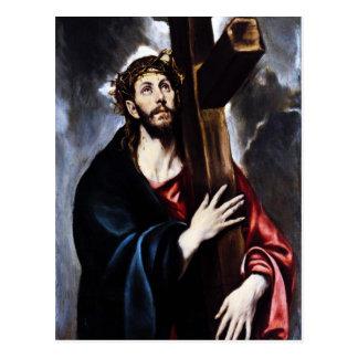 Carte Postale El Greco le Christ portant la croix