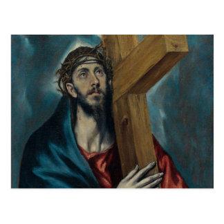 Carte Postale El Greco - le Christ portant la croix