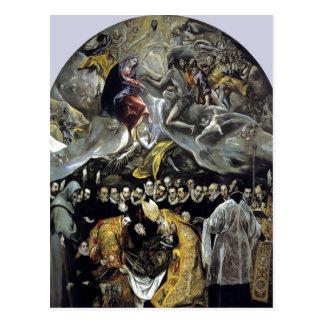 Carte Postale El Greco récapitulatif - l'enterrement du compte