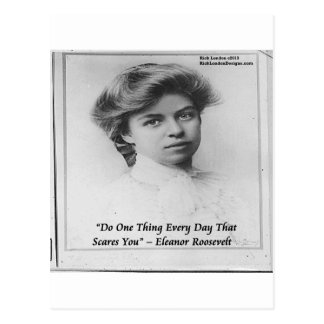 """Carte Postale Eleanor Roosevelt """"font quelque chose"""" citation"""