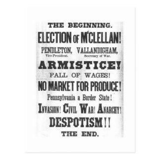 Carte Postale Élection 1864 présidentielle