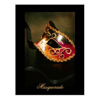 Carte postale élégante de beaux-arts de masque de
