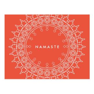 Carte postale élégante de corail de yoga de