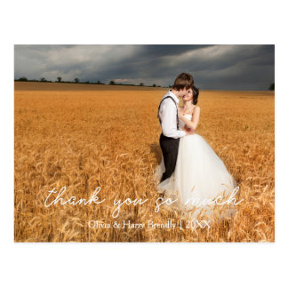 Carte postale élégante de Merci de mariage