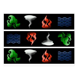 Carte Postale éléments 3D iconiques