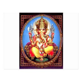 Carte Postale Éléphant d'Asie de Ganesha (गणेश)