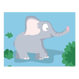 Carte Postale Éléphant de mon serie d'animaux du monde