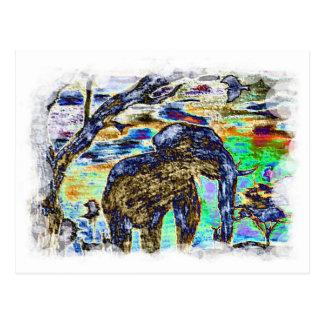 Carte Postale Éléphant d'Opacifier-Couleur