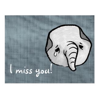 Carte Postale Éléphant triste