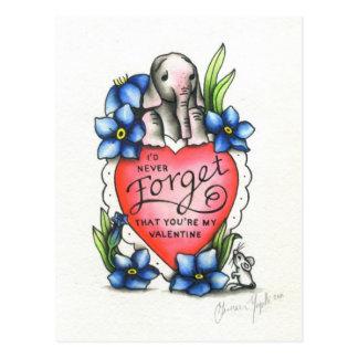 Carte Postale Éléphant Valentine