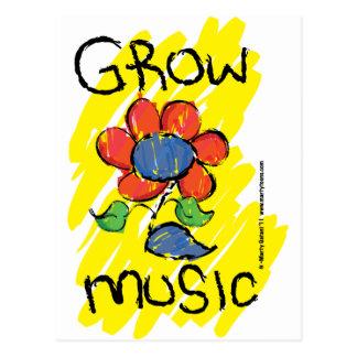 Carte Postale Élevez de la musique. Refroidissez la conception