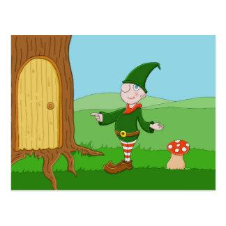 Carte Postale Elf de Père Noël