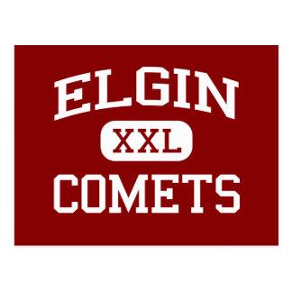 Carte Postale Elgin - comètes - lycée d'Elgin - Marion Ohio
