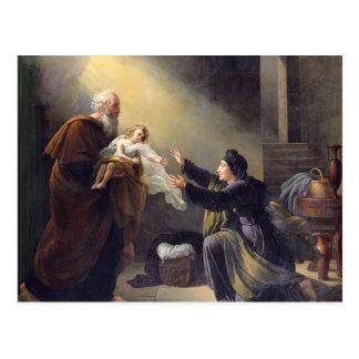 Carte Postale Élijah ressuscitant le fils