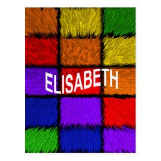 CARTE POSTALE ELISABETH