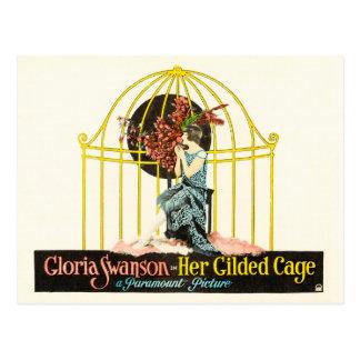 Carte Postale Elle a doré la cage (Paramount, 1922)