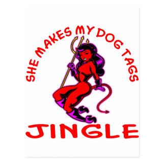Carte Postale Elle fait mon tintement d'étiquettes de chien