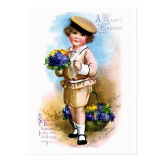 Carte Postale Ellen H. Clapsaddle : Enfant avec le myosotis