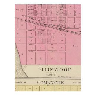 Carte Postale Ellinwood, Comanche, le Kansas