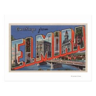 Carte Postale Elmira, New York - grandes scènes de lettre