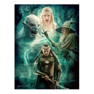 Carte Postale ELROND™, Azog, Galadriel, et graphique de Gandalf