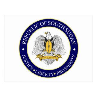 Carte Postale emblème du sud du Soudan