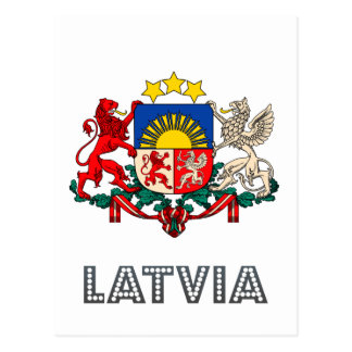 Carte Postale Emblème letton