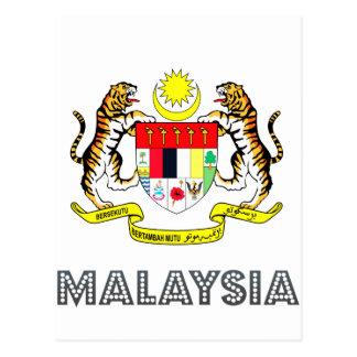 Carte Postale Emblème malaisien