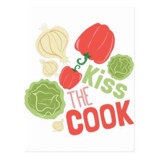 Carte Postale Embrassez le cuisinier