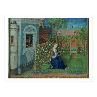 Carte Postale Emelye dans son jardin. Les chevaliers emprisonnés