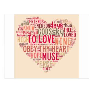 Carte Postale Emerson donnent tous à l'amour