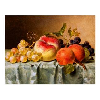 Carte Postale Emilie Preyer : Fruits avec la mouche