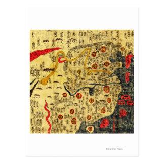 Carte Postale Empire de Ming, ChinaPanoramic MapChina