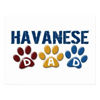 Carte Postale Empreinte de patte 1 de papa de HAVANESE