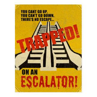 Carte Postale Emprisonné sur un escalator