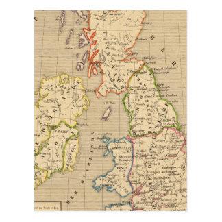 Carte Postale En 900 d'Angleterre, d'Ecosse et d'Irlande
