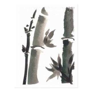 Carte postale en bambou d'art de zen