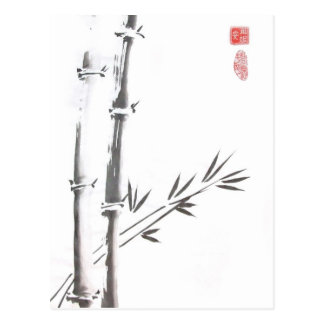 Carte postale en bambou noble