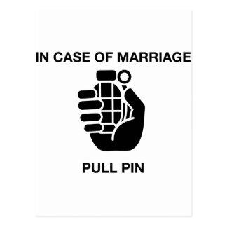CARTE POSTALE EN CAS DE MARIAGE, TIREZ LE PIN