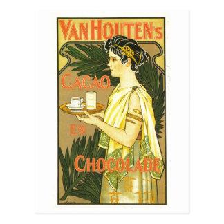 Carte Postale En Chocolade 1899 de Cacao de Van Houten's