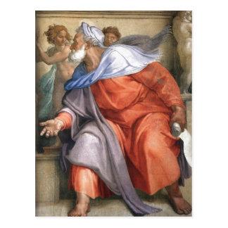 Carte Postale En de résumé : Ezekiel a dépeint sur une chapelle