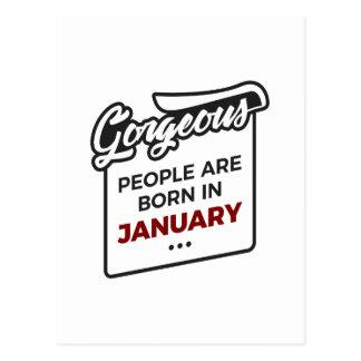 Carte Postale En janvier anniversaire soutenu magnifique de